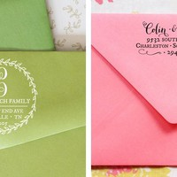 New!!! Adorable Custom Address Stamps – 12 styles to choose from!