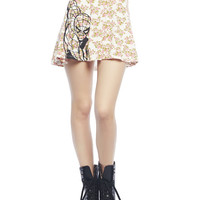 Floral Spiderman Skater Skirt | Wet Seal