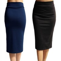 Stretch Pencil Skirts in Multiple Colors!