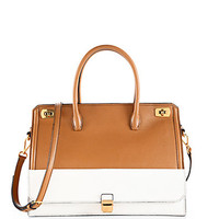 Madras Colorblock Tote