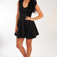 Knock His Socks Off Dress: Black
