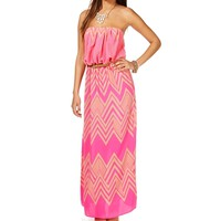 PinkTaupe Belted Maxi Dress