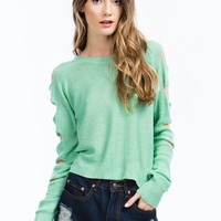 Climb Up Ladder Cut-Out Sweater