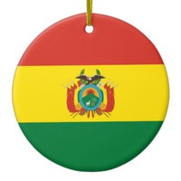 Bolivian flag ornament