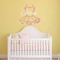 Wall Decal Tutu Personalized with Name Nursery Vinyl Wall Decal 22389