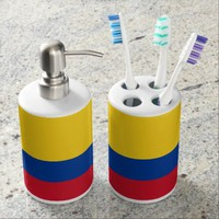 Colombian flag Bath set