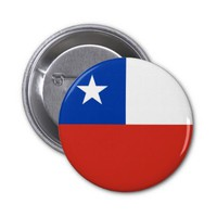 Chilean flag Button
