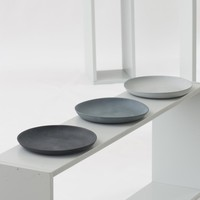 Plates grey set of three