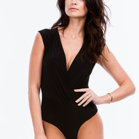 Take You By Surplice Draped Bodysuit