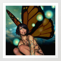 Butterfly Dreams Art Print by Sandra Bauser Digital Art