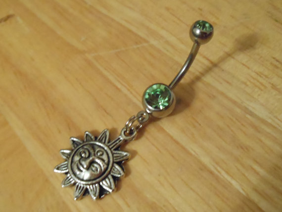 Belly button ring  Sun belly ring by ChelseaJewels on Etsy