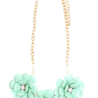 Flower Pop Statement Necklace