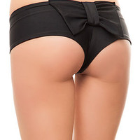 The Ring Master Bikini Bottom in Black