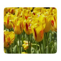 Yellow Tulips Glass Cutting Board