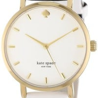 kate spade new york Women's 1YRU0260 Black Beige Harrison Street Stripe Metro Watch