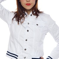 Play Ball Baseball Jacket - White