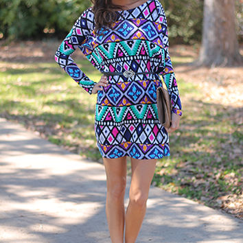 Mind Is Racing Tunic, Multi