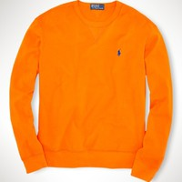 Athletic Cotton Mesh Crewneck