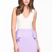 PASTEL PEPLUM DRESS