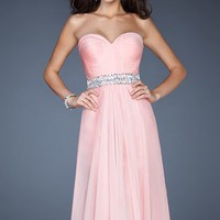 Jeweled Sweetheart Evening Gown by La Femme