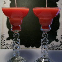 Year 2000 Glass Candles with Vanilla Insanity - Set of 2