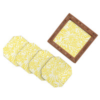 Lisa Argyropoulos Daisy Daisy In Golden Sunshine Coaster Set