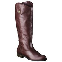 Women's Merona® Kasia Leather Riding Boot - Burnished Red