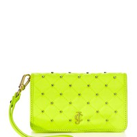 Neon Nylon Studded Tech Wristlet