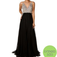 Nicolette-Black Prom Dress