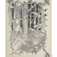 Prince Charming Cuts His Way Through the Overgrown Forest To Sleeping Beauty Giclee Print by Walter Crane at Art.com