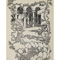 Prince Charming Finds Sleeping Beauty Asleep in a Building Overgrown With Thorns Giclee Print by Walter Crane at Art.com