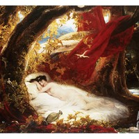 A Sleeping Beauty Giclee Print by Richard Westall at Art.com
