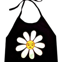 FUCK YOU DAISY CROP HALTER - PREORDER