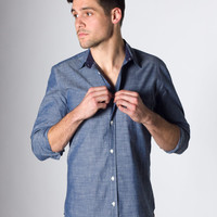 Chambray Oxford : Marine Layer