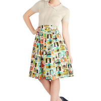Flair for the Fantastic Skirt in Cameras | Mod Retro Vintage Skirts | ModCloth.com