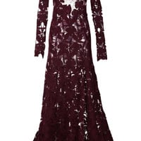 Embroidered Silk Crepe Dress by Nina Ricci - Moda Operandi