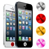 MIME Aluminum Home Button for iPhone 5 [Silver, Red, Gold, Pink][4-PACK] for Apple iPhone / iPad