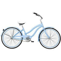 "Walmart.com: 26"" Micargi Rover GX Women's Beach Cruiser Bike, Baby Blue: Bikes & Riding Toys"