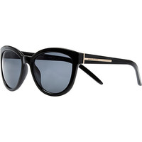 Black oversized sunglasses - retro sunglasses - sunglasses - women