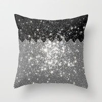 Chevron Universe Throw Pillow by Paula Belle Flores