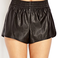Fresh Faux Leather Shorts