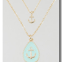 Mint Anchors Away Necklace from P.S. I Love You More Boutique