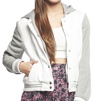 Varsity Fleece Jacket | Wet Seal