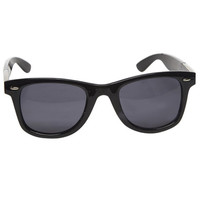Metal Temple Wayfarer Sunglasses | Wet Seal