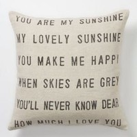 You Are My Sunshine Pillow - Anthropologie.com