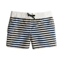 GIRLS' STRIPE BOARD SHORT