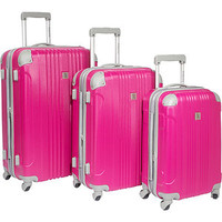 Walmart: Beverly Hills Country Club Newport 3 Piece Hardside Spinner Luggage Set