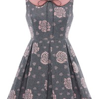 Rose Peter Pan Sleeveless Dress