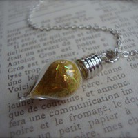 FELIX FELICIS - Harry Potter Liquid Luck Tear Drop Vial Necklace | JetaimeBoutique - Jewelry on ArtFire