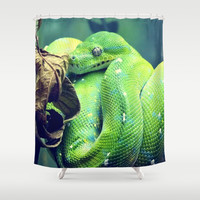 Snake Shower Curtain by Yoshigirl